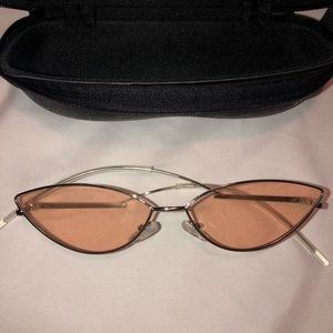 Cat Eye Sunglasses with light pink lens